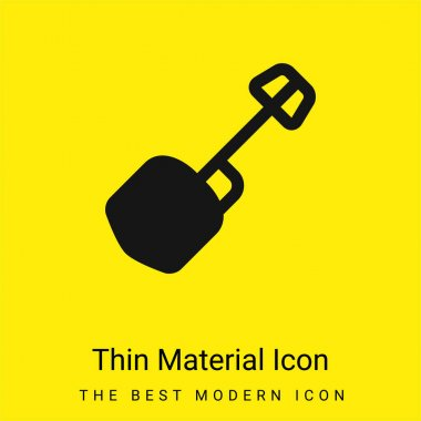 Big Shovel minimal bright yellow material icon stock vector
