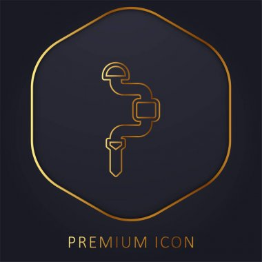 Brace golden line premium logo or icon stock vector