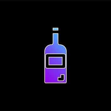 Bottle blue gradient vector icon stock vector