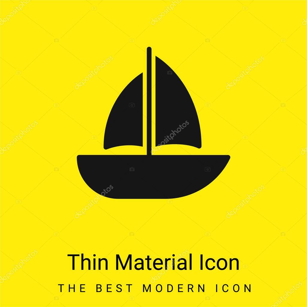 Barca icona materiale giallo brillante minimo
