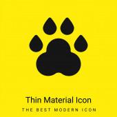 Animal Track minimális fényes sárga anyag ikon