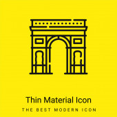Arch Of Triumph minimal bright yellow material icon