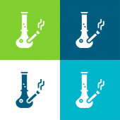 Bong Flat négy szín minimális ikon készlet