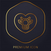 Animal Rights golden line premium logo or icon