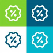 Jelvény Lakás négy szín minimális ikon készlet