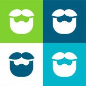 Vousy Byt čtyři barvy minimální ikona nastavena