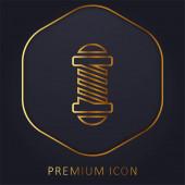 Beauty Salon zlaté linie prémie logo nebo ikona