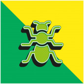 Ant Green and yellow modern 3d vector icon logo