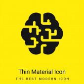 Mozek minimální jasně žlutý materiál ikona