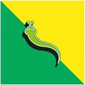 Animální zelené a žluté moderní 3D vektorové logo
