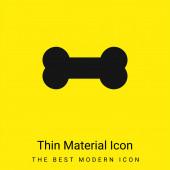Knochen minimal leuchtend gelbes Material Symbol