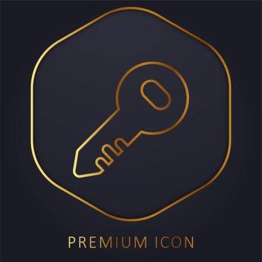 Administrator Key golden line premium logo or icon stock vector