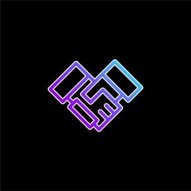 Agreement blue gradient vector icon stock vector