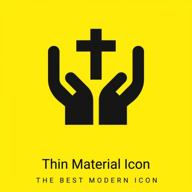 Bless minimal bright yellow material icon stock vector