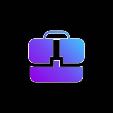 Black Handbag blue gradient vector icon