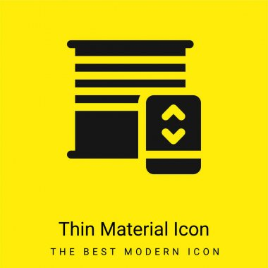 Blinds minimal bright yellow material icon stock vector