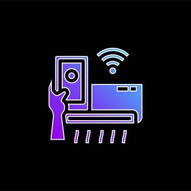 Air Conditioner blue gradient vector icon