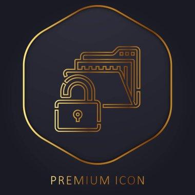 Access golden line premium logo or icon stock vector