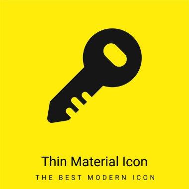Administrator Key minimal bright yellow material icon stock vector