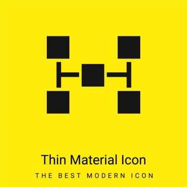 Blocks Scheme Of Five Squares minimal bright yellow material icon stock vector