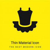 Balet minimální jasně žlutý materiál ikona