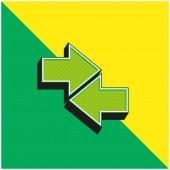 Grünes und gelbes modernes 3D-Vektorsymbol-Logo