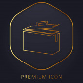 Munitionsdose goldene Linie Premium-Logo oder Symbol