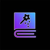 Blaues Gradienten-Vektorsymbol buchen