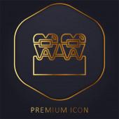 Šle zlaté linie prémiové logo nebo ikonu