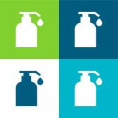 Body Oil Flat čtyři barvy minimální ikona nastavena