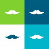 Big Mustache Flat four color minimal icon set