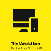 Adaptive minimale hellgelbe Materialsymbole