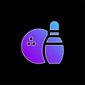 Vektorová ikona kuželkářská modrá
