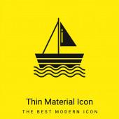Loď minimální jasně žlutý materiál ikona