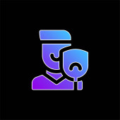 Blaues Gradienten-Vektor-Symbol