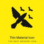 Birds minimal bright yellow material icon
