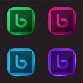 Bebo Vier-Farben-Glas-Taste Symbol