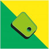 Fekete címke Zöld és sárga modern 3D vektor ikon logó