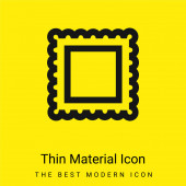 Border For Frame Pictures minimal bright yellow material icon