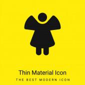 Angel minimális fényes sárga anyag ikon
