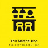 Bar minimální jasně žlutý materiál ikona
