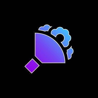 Bouquet blue gradient vector icon stock vector