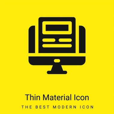Article minimal bright yellow material icon stock vector