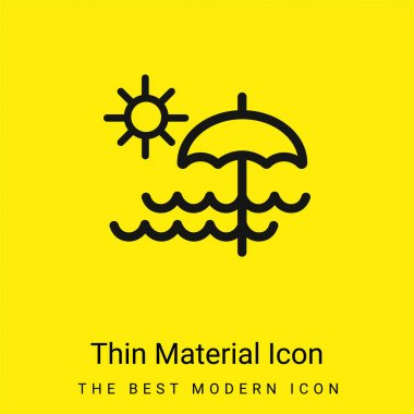 Beach Day minimal bright yellow material icon stock vector