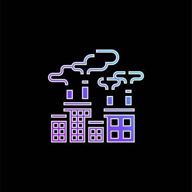 Air Pollution blue gradient vector icon stock vector