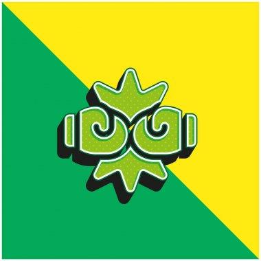 Boxing Green and yellow modern 3d vector icon logo stock vector