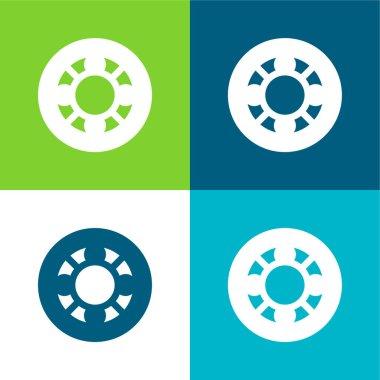 Ball Bearing Flat four color minimal icon set stock vector