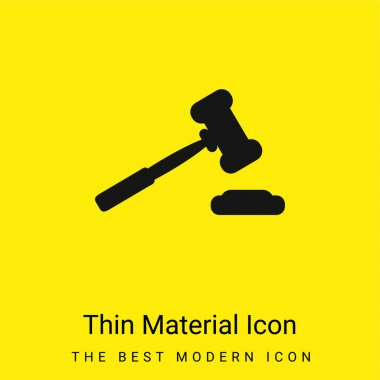 Auction Hammer Variant Tool minimal bright yellow material icon stock vector