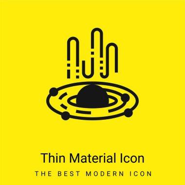Kara Delik en az parlak sarı madde simgesi