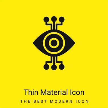 Bionic Eye minimal bright yellow material icon